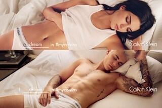 Kendall e Justin fanno sogni hot tra le lenzuola: la provocatoria pubblicità Calvin Klein