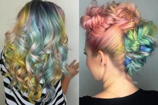 Macaron Hair, i capelli arcobaleno che spopolano su Instagram (FOTO)
