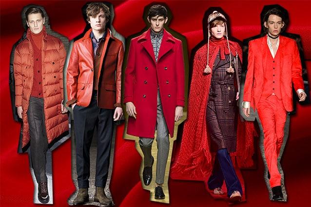 da sinistra Z Zegna, Trussardi, Salvatore Ferragamo, Gucci, CoSTUME NATIONAL Homme