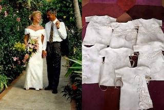 Dona l'abito bianco per realizzare vestiti per bimbi nati morti: l'idea ispira mille spose