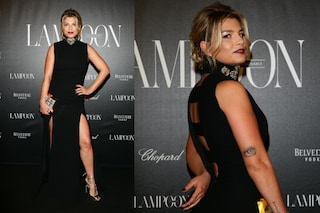 Emma Marrone look da diva con spacco sexy alla Fashion Week di Milano