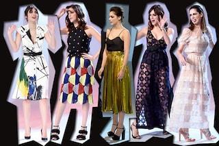 """I look di Miriam Leone a """"Le Iene"""" 2016: gioielli originali e sensuali trasparenze"""