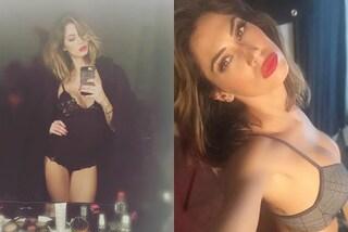 Melissa Satta sexy in lingerie: i selfie hot con slip e reggiseno (FOTO)