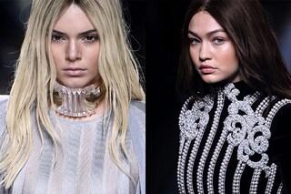 Kendall Jenner è bionda e Gigi Hadid diventa  mora: la trasformazione per Balmain (FOTO)