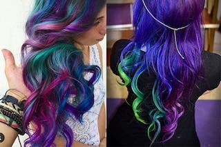 Galaxy hair, il coloratissimo trend per i capelli che si ispira alle galassie (FOTO)