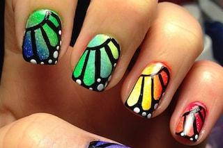 Le unghie della settimana: butterfly nails (FOTO)