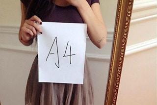 A4 Challenge, l'insana moda social per misurare la propria magrezza