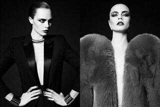Nuova trasformazione per Cara Delevingne: la modella in versione dark per Saint Laurent