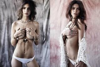 Emily Ratajkowski nuda sui social: a coprirla solo una cascata di gioielli