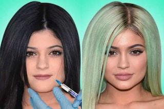 I cambiamenti del volto delle sorelle Kardashian in time-lapse