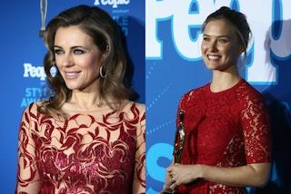 Bellissime in rosso: Bar Rafaeli e Liz Hurley incantano i People Style Awards