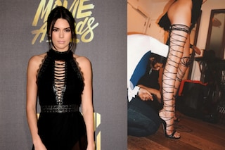 Kendall Jenner spopola agli Mtv Movie Awards 2016 con i sexy sandali da gladiatore