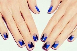 Le unghie della settimana: color block manicure (FOTO)
