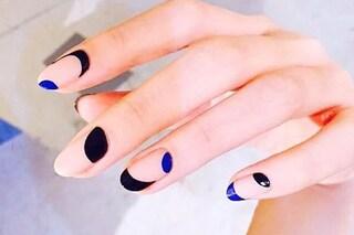 Le unghie della settimana: moon manicure