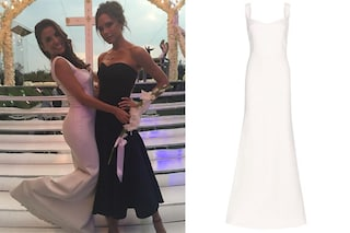 I look da sposa di Eva Longoria: due abiti bianchi e gioielli preziosi per il matrimonio