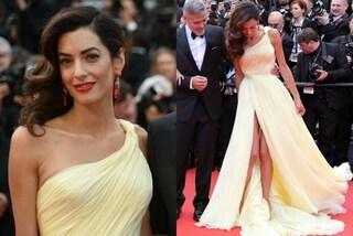 Amal Clooney conquista Cannes con lo spacco rivelatore
