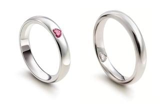 Fedi con un cuore brillante incastonato: i romantici anelli Damiani