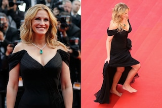 A piedi nudi sul red carpet: Julia Robert si ribella al dress code di Cannes 2016