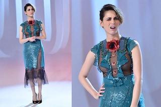 """Miriam Leone: il look con paillettes e trasparenze per l'ultima puntata de """"Le iene"""""""