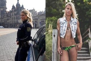 Gli uomini sognano di essere arrestati da lei: Adrianne è la poliziotta più sexy del web
