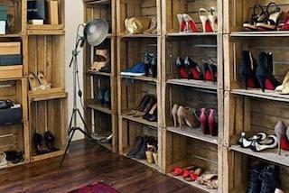 Come sistemare le scarpe in poco spazio: 9 idee