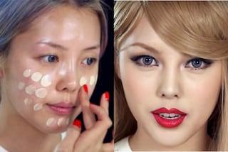 Con il make up diventa Taylor Swift: l'incredibile trasformazione di una ragazza coreana