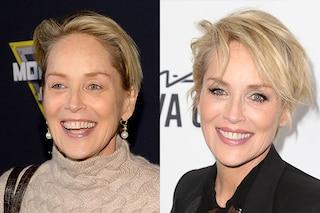 Le star prima e dopo il trucco: la trasformazione di Sharon Stone
