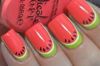 Le unghie della settimana: watermelon manicure