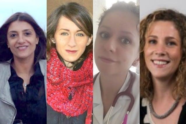 Emanuela Palmerini, Carlotta Antoniotti, Caterina Fontanella e Marta Schirripa