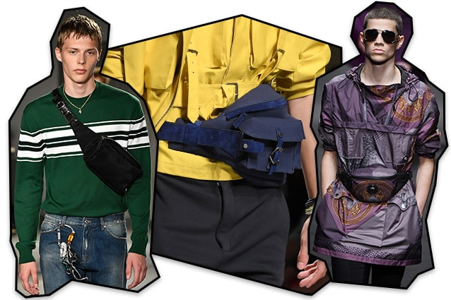 Da sinistra: MSGM, Salvatore Ferragamo, Versace
