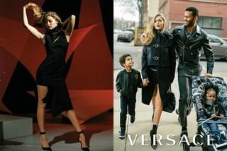 """Gigi Hadid nelle vesti di """"mamma"""", la trasformazione della top nella campagna Versace"""