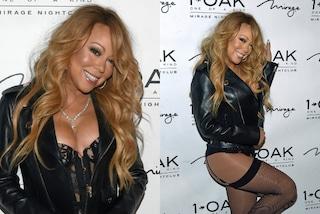 Mariah Carey diventa Dj e sfila in reggicalze mostrando il lato B