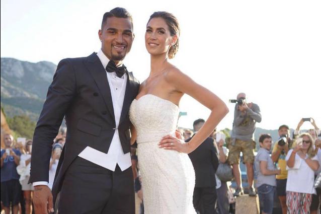 Il matrimonio di Melissa Satta e Kevin Boateng: le foto del