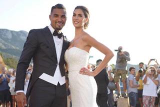 Il matrimonio di Melissa Satta e Kevin Boateng: le foto del look di sposi e invitati