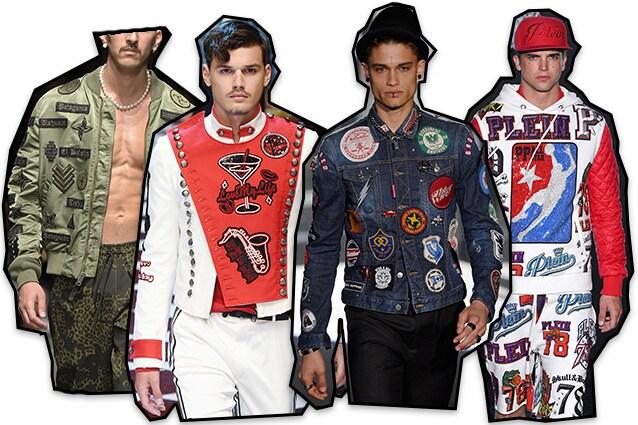 Da sinistra: Marcelo Burlon County of Milan, Dolce e Gabbana, Dsquared2, Philipp Plein
