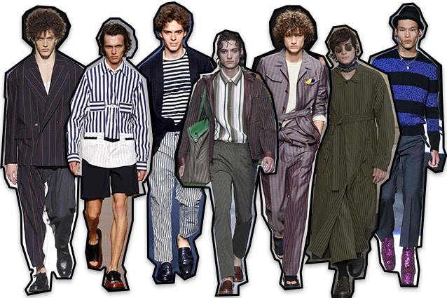 Da sinistra: Vivienne Westwood, Marni, Etro, Fendi, Salvatore Ferragamo, Damir Doma, Dsquared2
