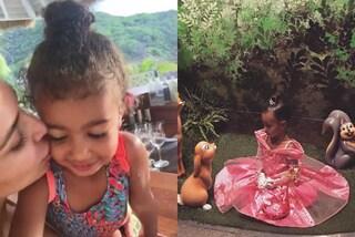 North West compie 3 anni, Kim e Kanye le regalano un giorno da principessa a Disneyland