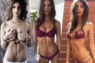 Emily Ratajkowski: con la sexy foto in bikini rilancia la mania del solco sul ventre