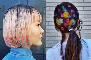 Graffiti hair: spopolano i disegni sui capelli creati con gli stencil