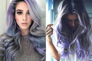 Smokey Lilac hair: i capelli grigi si arricchiscono con le sfumature lilla