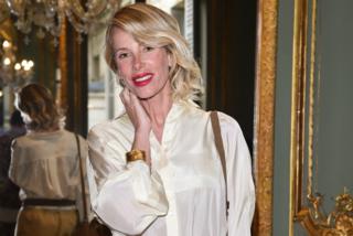 Alessia Marcuzzi alla Settimana dell'Alta Moda: in prima fila per Alberta Ferretti