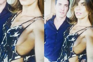 """Il """"Side Boobs"""" della Canalis: lo scatto sexy di Elisabetta con il marito"""