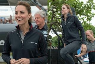 Tuta e scarpe da ginnastica: il look inconsueto di Kate Middleton