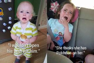 """""""Crede di avere un Pokémon addosso"""": i motivi più assurdi per cui i bambini piangono"""