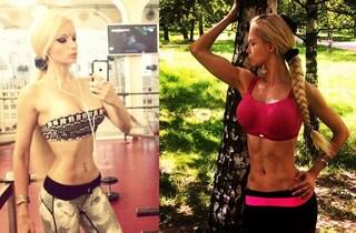 La Barbie umana tira fuori i muscoli: ecco com'è cambiata