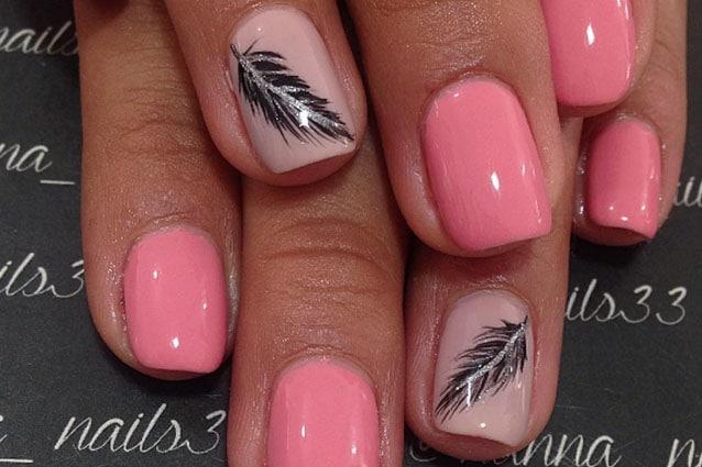 Le Unghie Della Settimana Feather Nails La Manicure Con Le Piume