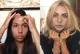Si trasforma in Cara Delevingne utilizzando il make-up: il risultato è incredibile