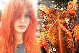 Capelli arancio per Georgia May, il colpo di testa della figlia di Mick Jagger