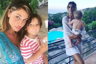 Mamme star: meglio mostrare il viso dei figli sui social o immortalarli di spalle?