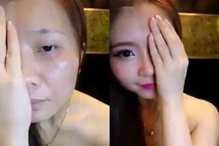Il potere del make-up: trasforma il suo viso in modo incredibile con fondotinta e ombretto